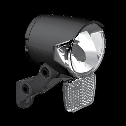 Herrmans Frontscheinwerfer H-Black Pro D Dynamo on//off Standlicht schwarz